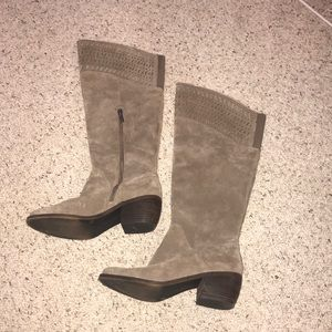 Lucky Brand Genuine Suede Boots Size 8